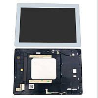 Дисплей для Asus ZenPad 10 Z301ML с тачскрином и рамкой белый Оригинал