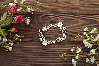 Чипборд  Рамка с цветами и завитушками