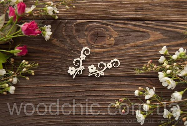 Чипборд Завиток с цветочками