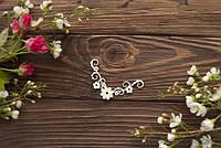 Чипборд Уголок с цветочками
