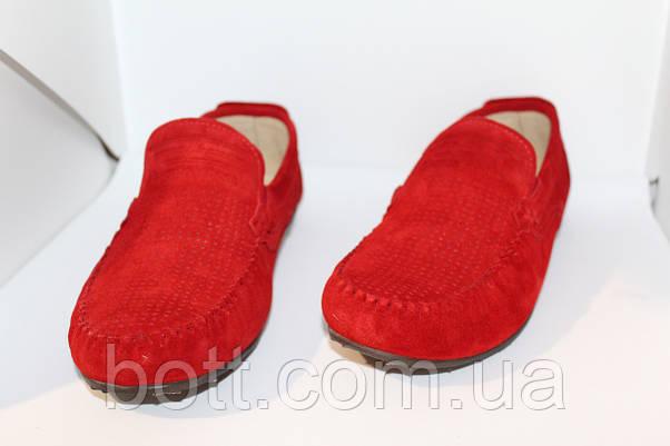 Красный замшевый мокасин, фото 2
