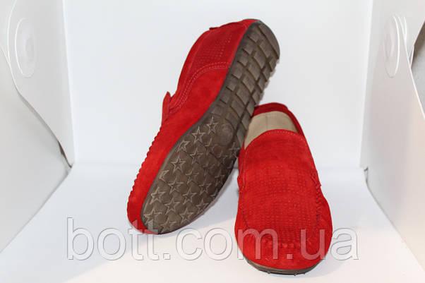 Красный замшевый мокасин, фото 3
