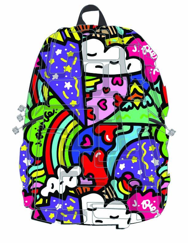 "Рюкзак ""Artipacks Full"", цвет HEART 2 HEART (цвет мульти)"