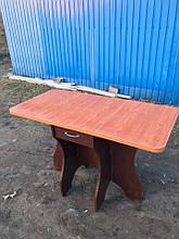 Стол обеденный Метелик венге темный + столешница кореница