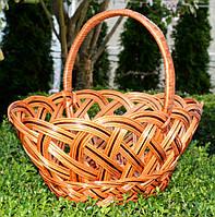 Пасхальная плетенная корзина из лозы 50х36х43