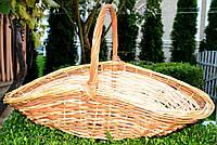 Плетенная корзина из лозы для дров 68х35х39