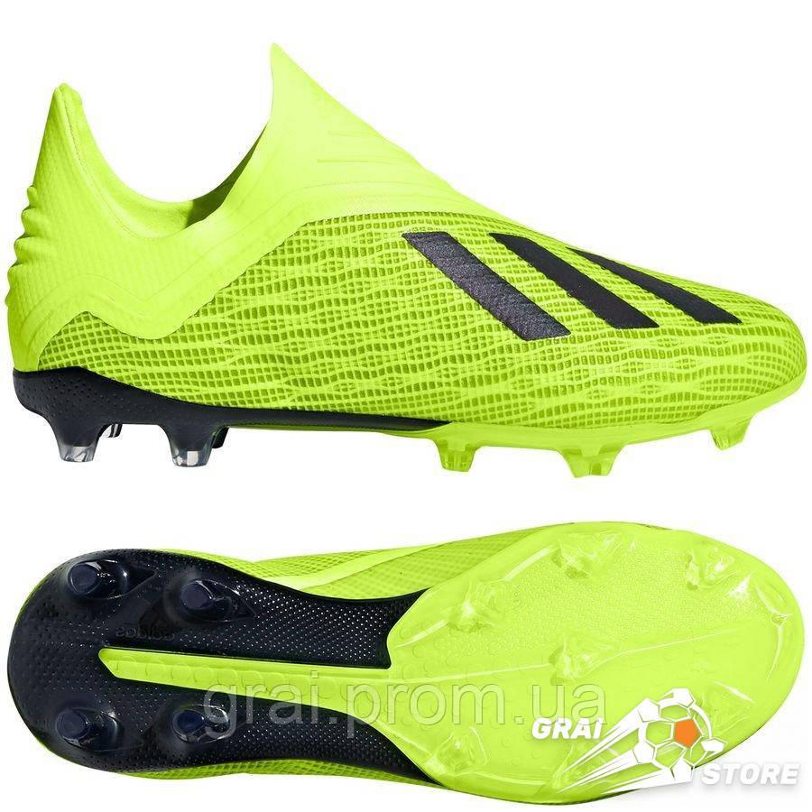 78688cb8 Детские бутсы adidas X 18+ FG/AG Yellow/Black/White: продажа, цена в ...