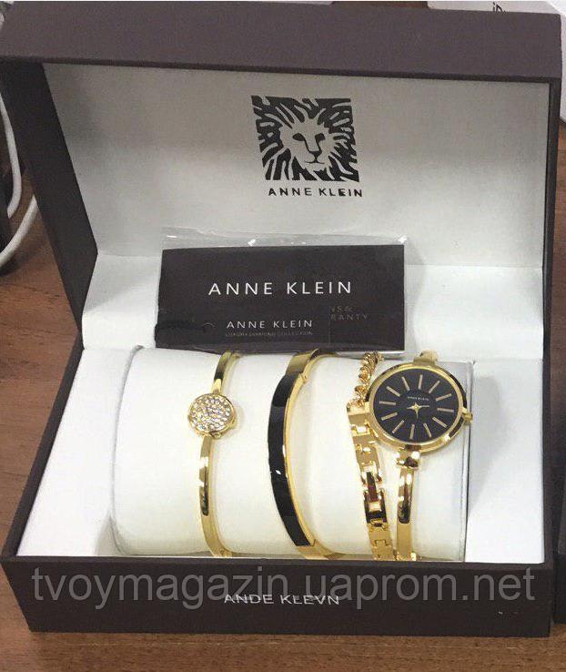 Женские наручные часы Anne Klein с 3 браслетами в подарочной упаковке  Наручний жіночий годинник