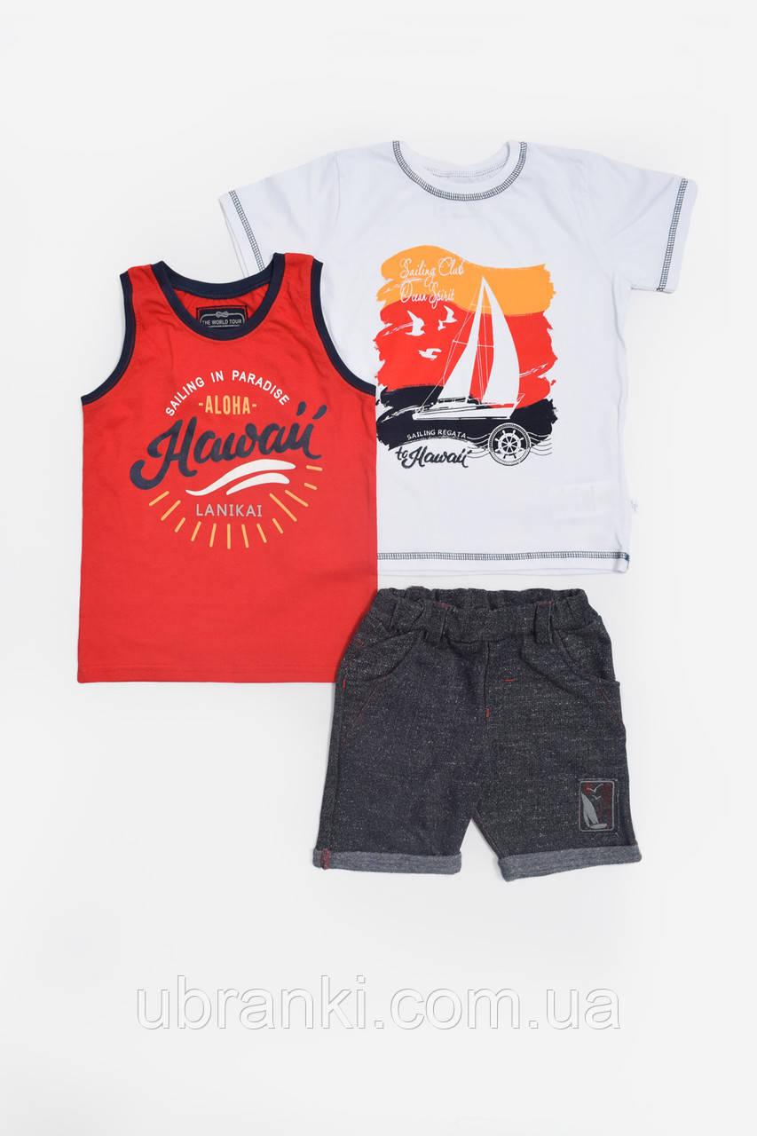 Комплект (футболка, майка, шорты)