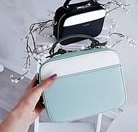 Квадратная сумочка в мятном цвете от David Jones Арт.01228, фото 1