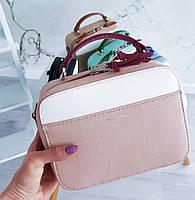 Квадратная сумочка в розовом цвете от David Jones Арт.01229, фото 1