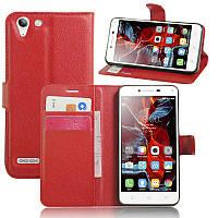 Чехол-книжка Litchie Wallet для Lenovo K5 / K5 Plus A6020 Красный