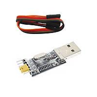 USB-UART USB-TTL конвертер на чипе CH340G с dupont кабелем, фото 1