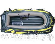 Надувна 2-х місцева човен з веслами і насосом. Розміри 236-114-41 див. Intex 68349, фото 3