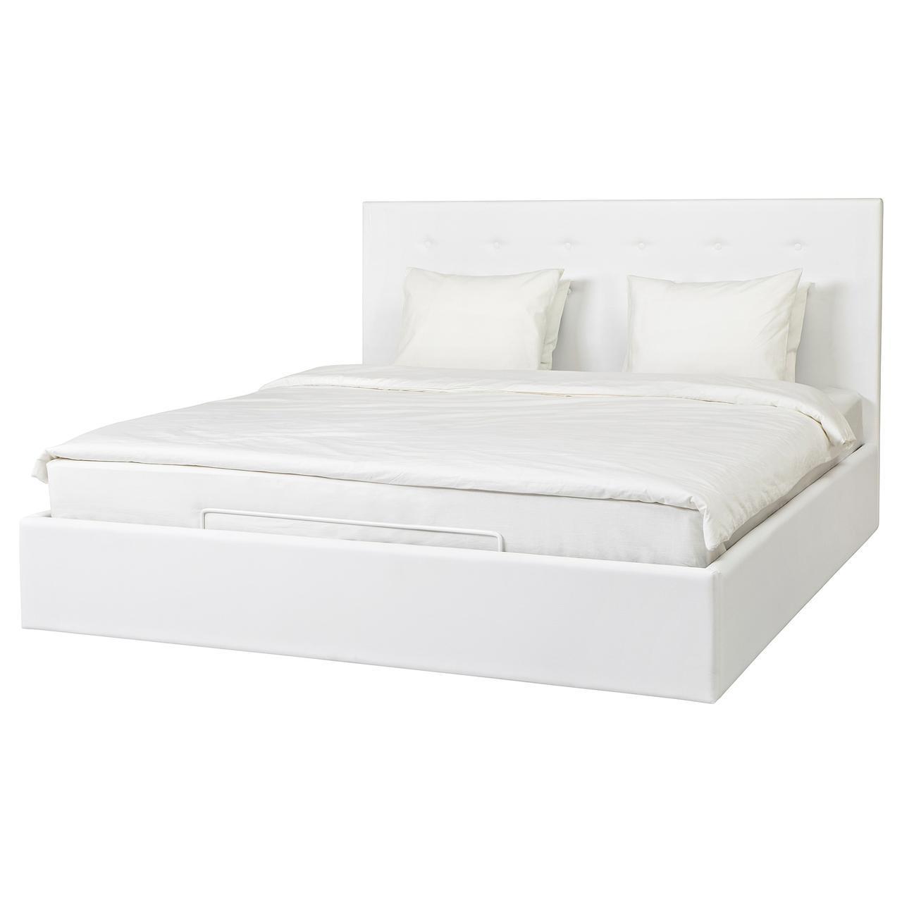 Ikea Gvarv 60409722 кровать с подъемным механизмом Idhult White