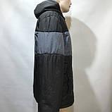 Куртка мужская / демисезонная куртка черная с принтом на груди / размер L, фото 3