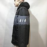 Куртка мужская / демисезонная куртка черная с принтом на груди / размер L, фото 4