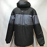 Куртка мужская / демисезонная куртка черная с принтом на груди / размер L, фото 5