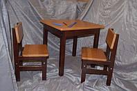 """Комплект детской мебели """"Капитошка""""из бука. Стол+2 стула"""