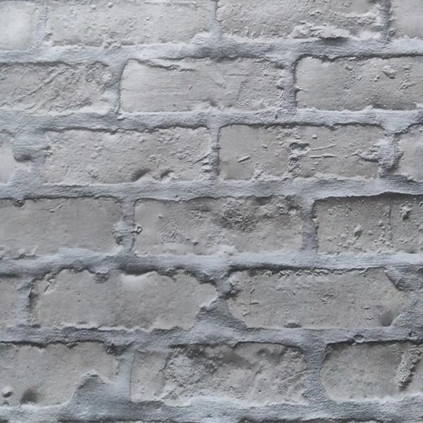 Обои бумажные влагостойкие Кирпичи темно-серый  2179