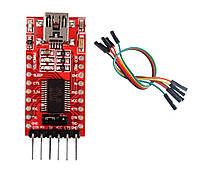 USB-UART конвертер USB-TTL на FTDI FT232RL с dupont кабелем