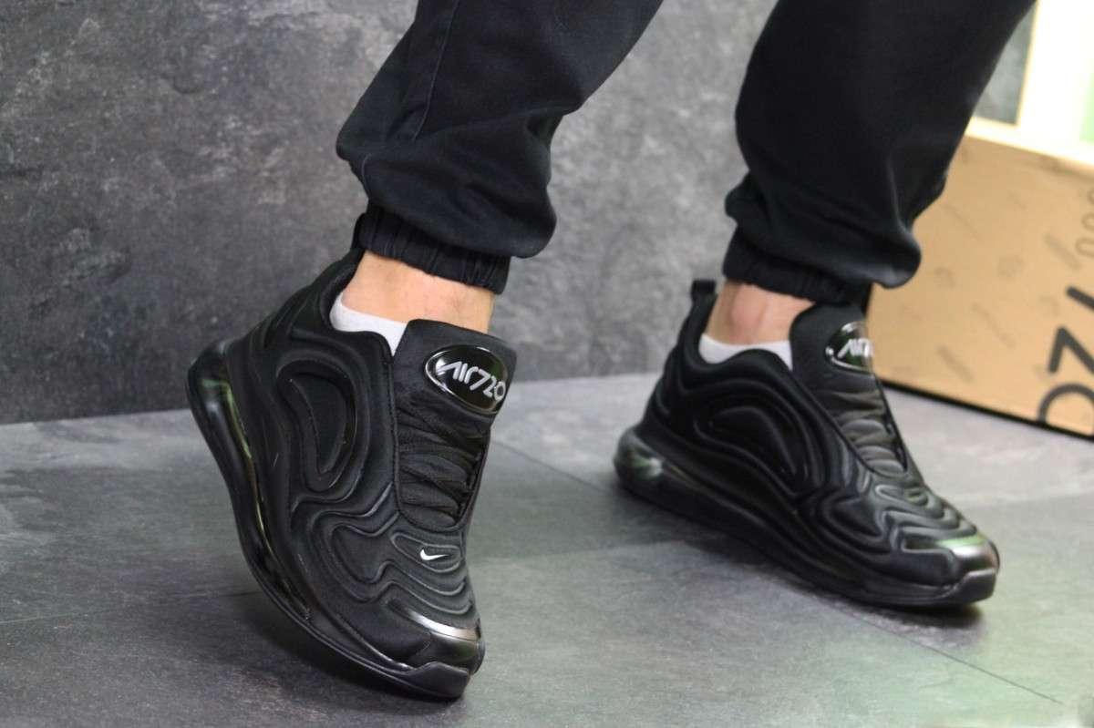 2ddc58e4 Мужские кроссовки весенние черные Nike Air Max 720 7063 (реплика ...