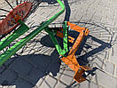Грабли ворошилки Булат на квадратной трубе (4 Солнышка, спица 5мм), фото 3