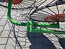 Грабли ворошилки Булат на квадратной трубе (4 Солнышка, спица 5мм), фото 4
