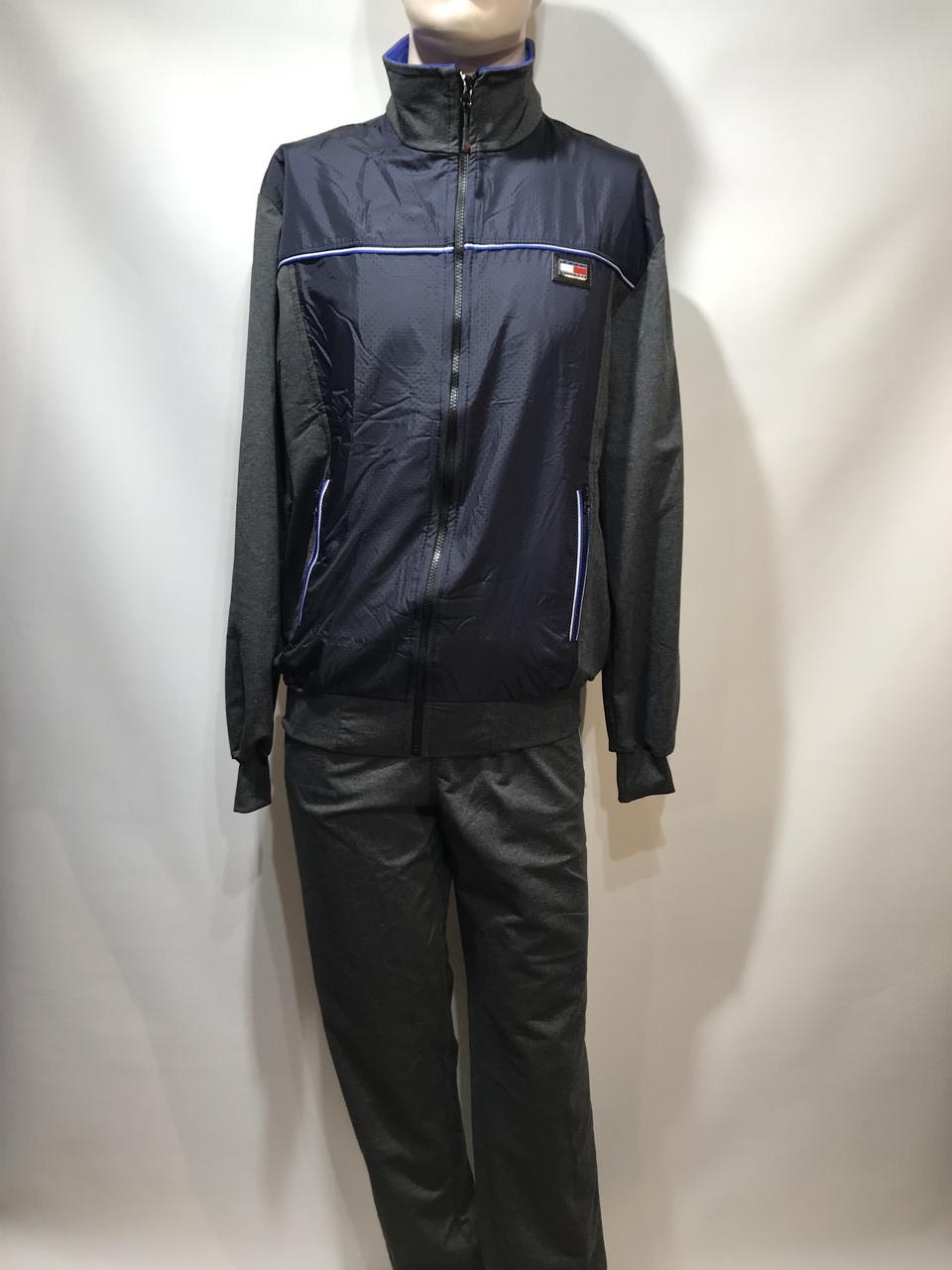Мужской спортивный костюм  (большой размер) /темно/синий / р.56-64 отличного качества