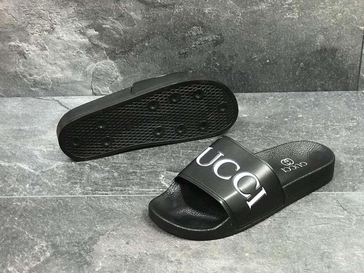 1618c7608 Шлепки мужские черные Gucci 5442: продажа, цена в Киевской области ...