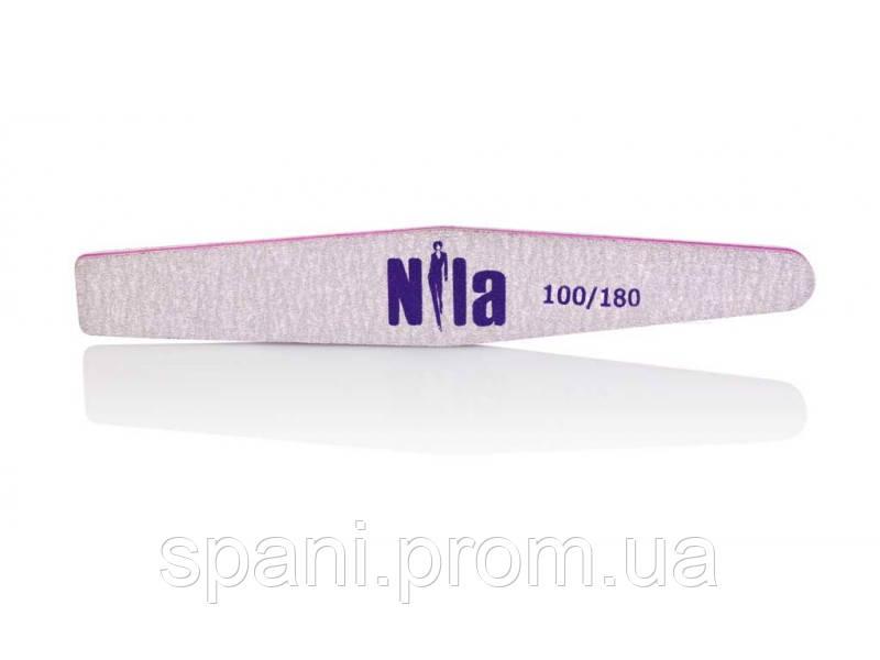 Nila Rhombus - пилочка для натуральных и искуственных ногтей 100/180, серая, ромб