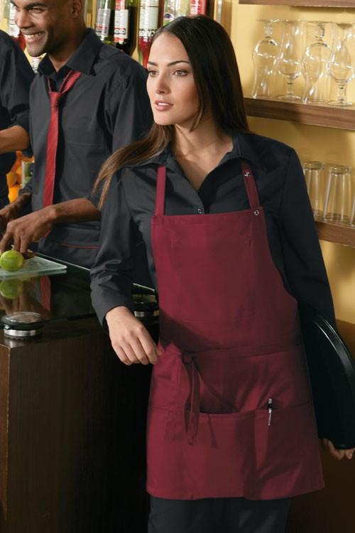 Фартук для официанта и бармена TEXSTYLE нагрудный с тремя карманами