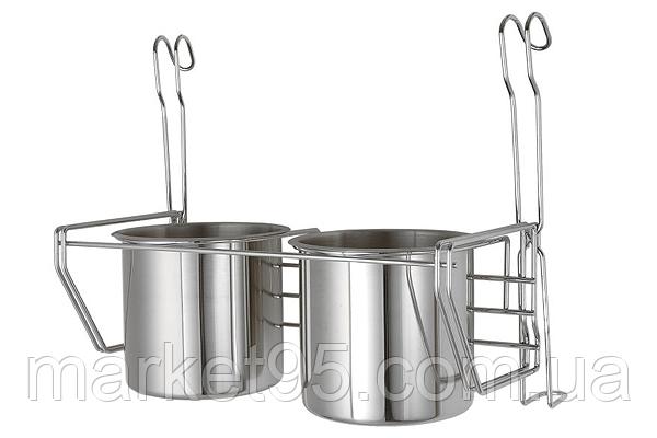 Полка на рейлинг для кухонных приборов двойная