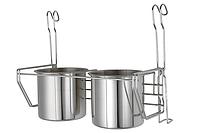 Полиця на рейлінг для кухонних приладів подвійна