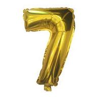 """Фольгированная цифра """"7"""", ЗОЛОТО - 35 см (14 дюймов)"""