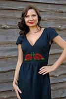 Женственное платье вышивкой