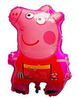 Шарик фигурный надувной, ПЕППА (розовая) - 58 см