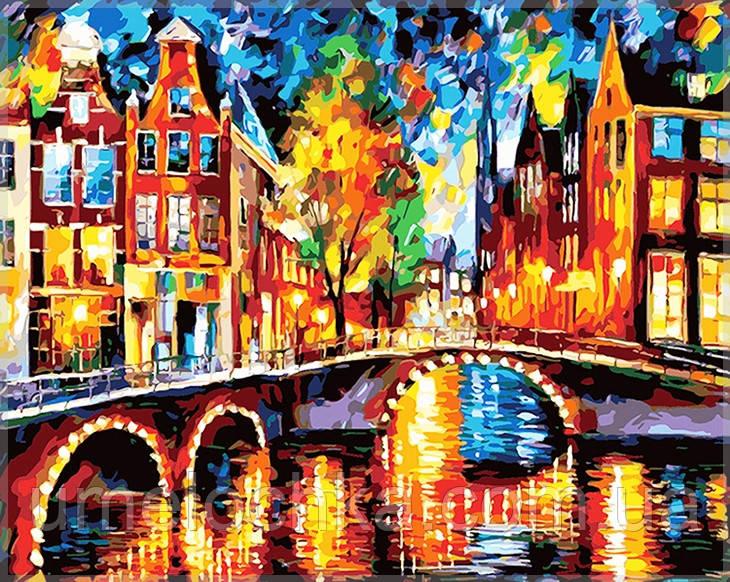 Раскраска по цифрам Идейка Красочный Амстердам KH1013