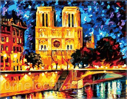 Раскраска по цифрам MENGLEI Собор Парижской Богоматери