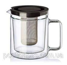 Чайник стеклянный с двойными стенками Simax Exclusive Twin с фильтром 1100 мл 3280