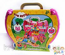 """Игровой набор """"Три кота"""" сумочка / рюкзак """"Три кота"""" /  """"Три кота"""" чемодан с фигурками и аксессуарами M-8807"""