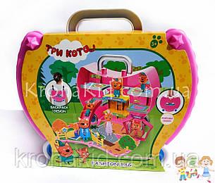 """Игровой набор """"Три кота"""" сумочка / рюкзак """"Три кота"""" /  """"Три кота"""" чемодан с фигурками и аксессуарами M-8807, фото 2"""