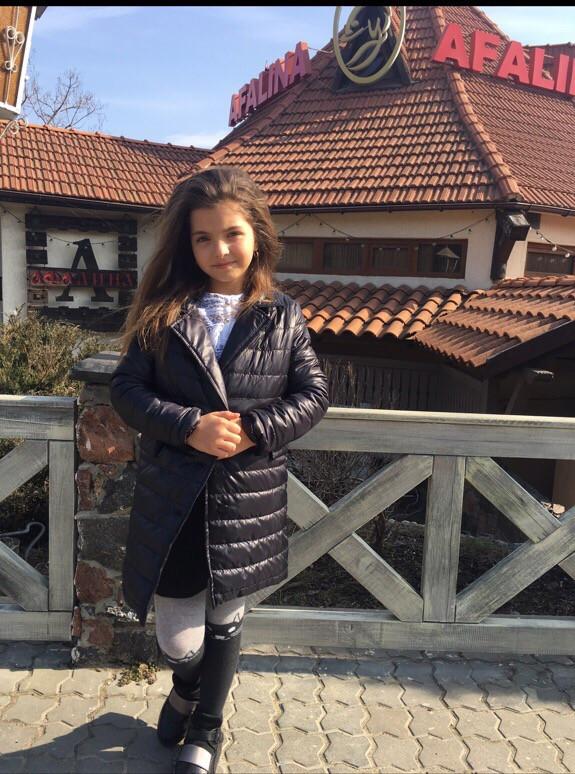 Стильное детское пальто демисезонное для девочки
