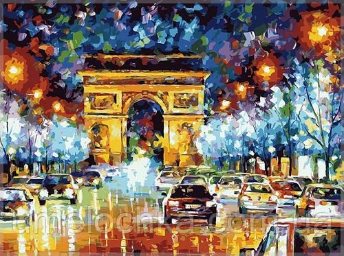 Раскраска по цифрам Идейка Мгновения Парижа KH1018