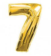 "Фольгована цифра ""7"", ЗОЛОТО - 70 см (32 дюйми)"