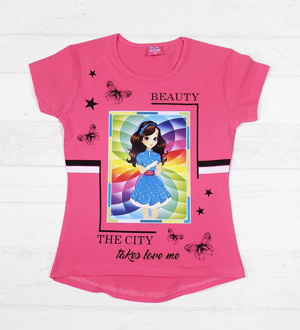 """Детские футболки для девочек """"Beauty"""" 8,9,10,11,12 лет"""