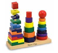 Детская игрушка. Деревянные развивающие пирамиды