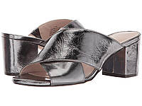 Босоножки Nine West Freddius Slide Block Heeled Sandal Pewter - Оригинал