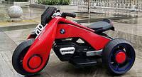Детский Мотоцикл BMW M 3926-3, красный (черный, белый), свет/звук, MP3/USB, BAMBI.