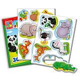 Развивающая игра на магнитах. Мой маленький мир: Зоопарк VT3106-02 Vladi Toys Украина, фото 2